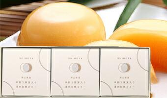 清水白桃ゼリー(3個入)木箱