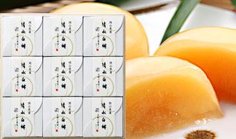 清水白桃ゼリー(9個入)木箱