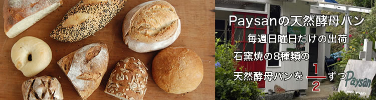 ペイザンの天然酵母パン8種類半分セット