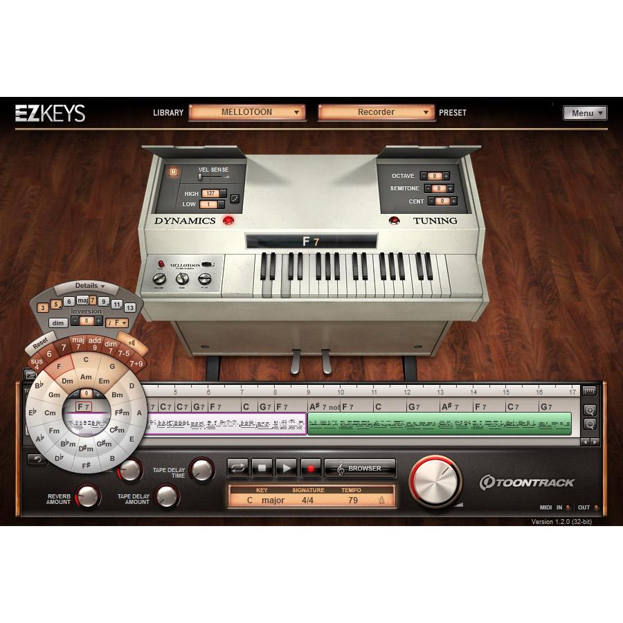 トゥーントラック メロトロン音源 プラグインソフト  EZ KEYS - MELLOTOON TOONTRACK 画像