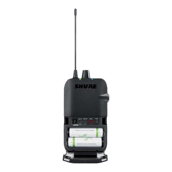 SHURE ワイヤレスシステム 送信機 P3T リアパネル画像
