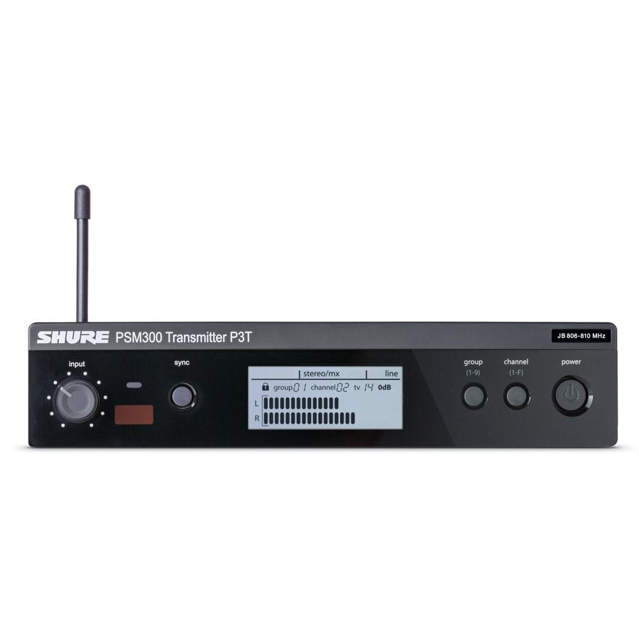 SHURE ワイヤレスシステム ボディパック型 受信機 P3R フロント画像
