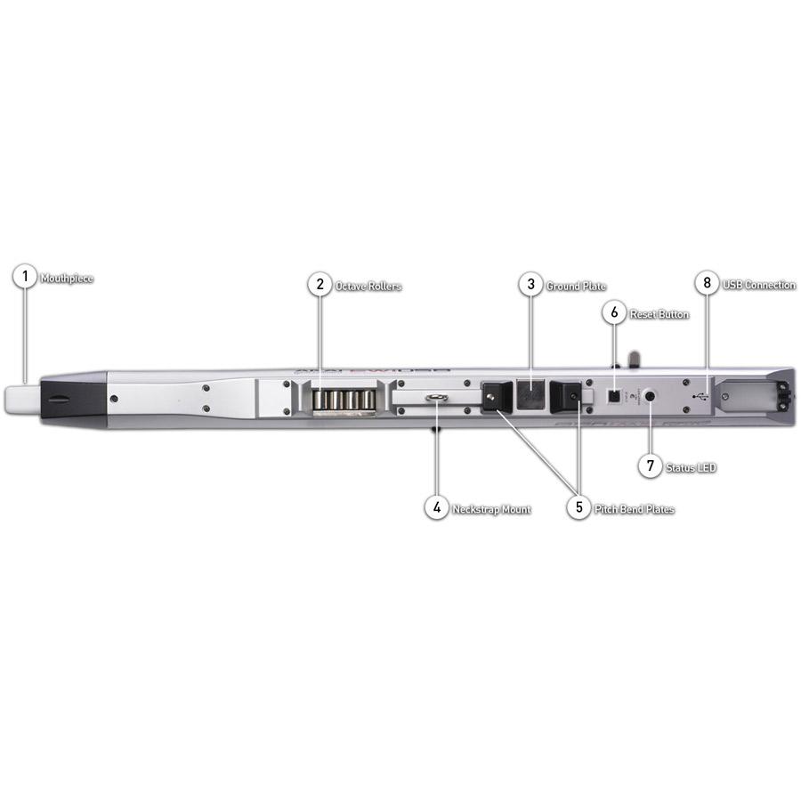 AKAI ウィンドシンセサイザー USBコントローラー EWI USB アカイ 画像