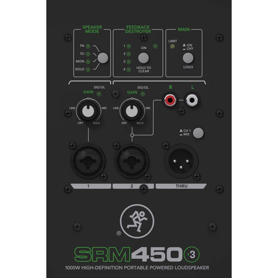 マッキー パワードラウド スピーカー 10インチ SRM450V3 MACKIE画像