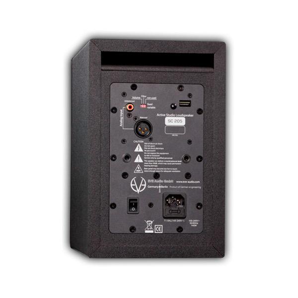 イヴオーディオ スタジオモニタースピーカー SC205 EVE audio リアパネル画像