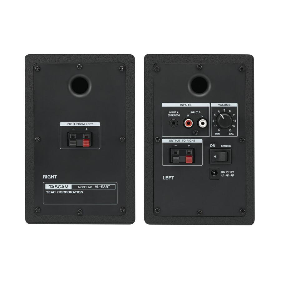 TASCAM VL-S3BT パワードモニタースピーカー Bluetooth対応 ワイヤレス 【タスカム VLS3BT】画像一