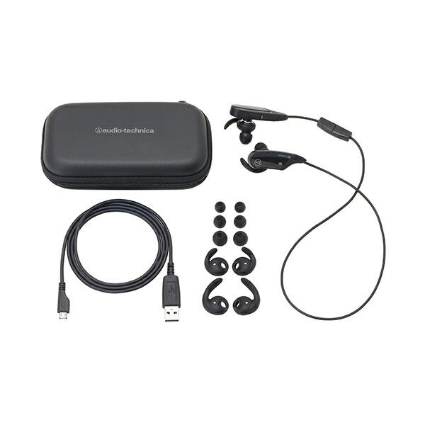 audio-technica ATH-BT12 BW(ブラウン) ワイヤレスイヤホン Bluetooth対応 ヘッドセット 【オーディオテクニカ ATHBT12】 画像一