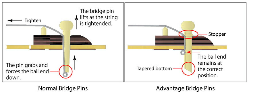 Ibanez Advantage(TM) Bridge pins