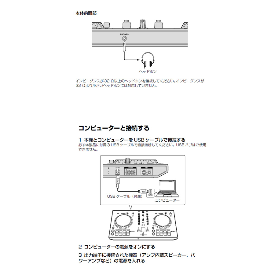 DDJ-RB + DM-40-W + ATH-M20x DJ初心者セット (スピーカー付き)-2