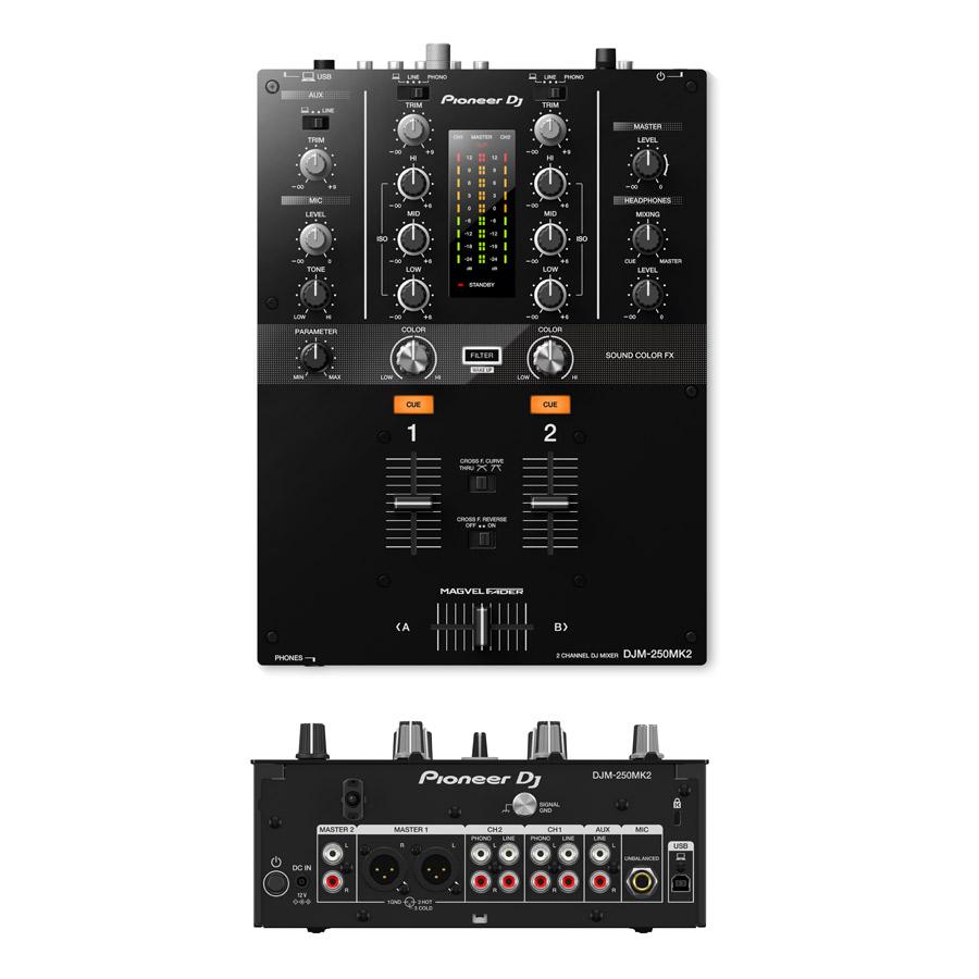 PLX-500-W + DJM-250MK2 + DM-40-W  + HDJ-X5-K アナログDJスピーカーセット-2