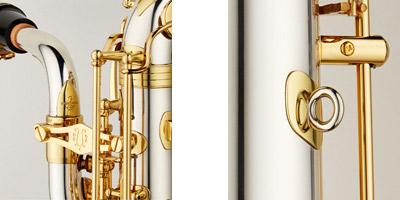B-WO1バリトンサックス E♭ ブラス製 ラッカー仕上 HighF♯キー付 彫刻入 関連画像