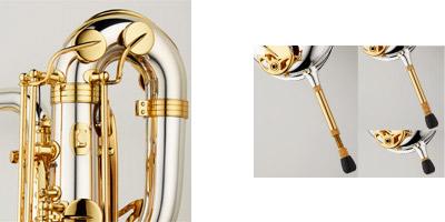 B-WO20R Rバリトンサックス E♭ ブロンズブラス製 ラッカー仕上 HighF♯キー付 レスト付 彫刻入 関連画像