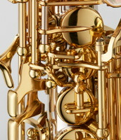 SC-WO20PGP PGPカーブドソプラノサックス B♭ ブロンズブラス製 ピンクゴールドメッキ仕上 HighF#キー付 彫刻入 関連画像