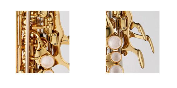 SC-WO37PGP PGPカーブドソプラノサックス B♭ シルバー製 ピンクゴールドメッキ仕上 HighF#キー付 彫刻入 関連画像