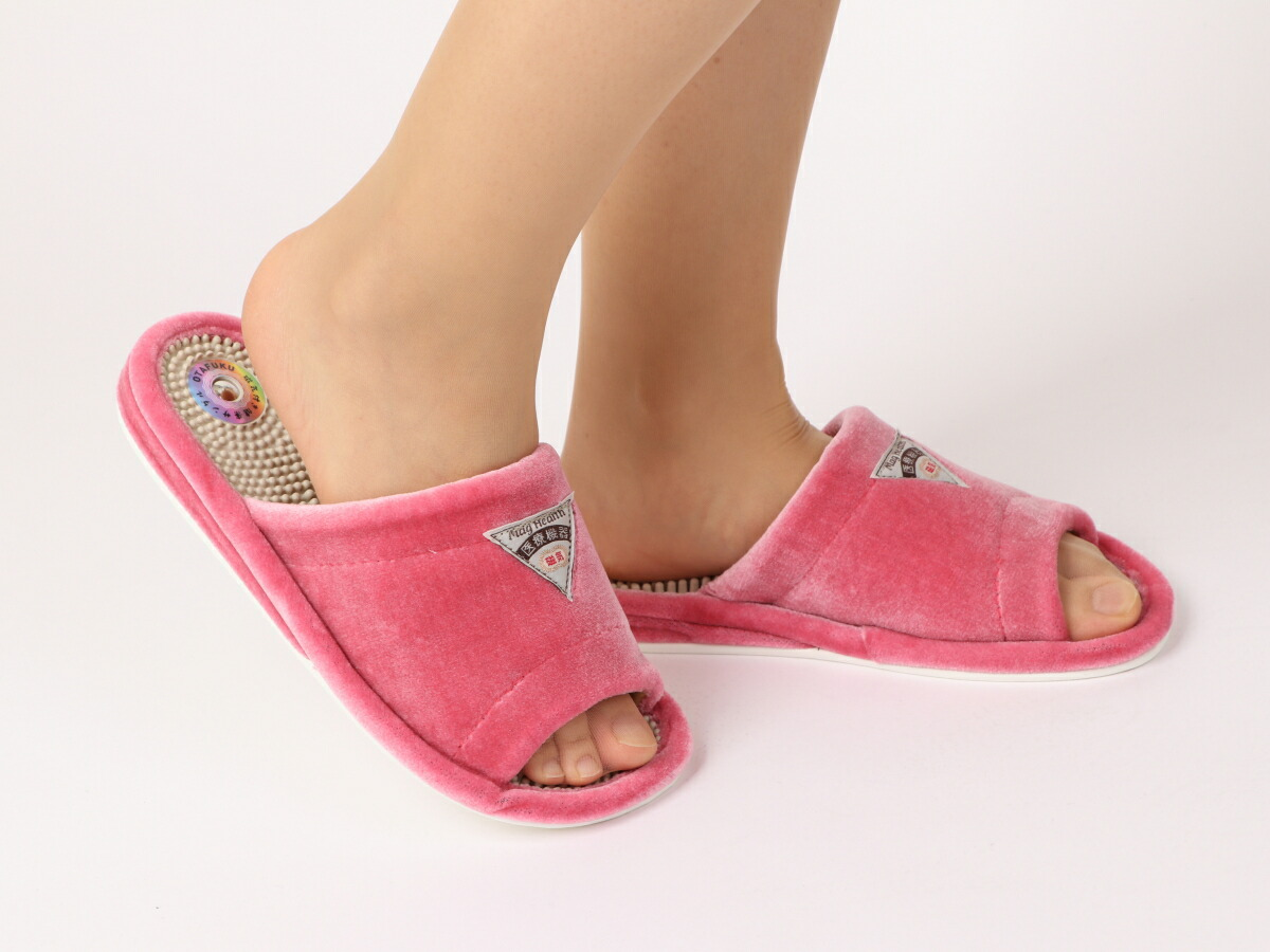 室内履パイル 磁気付 サンダル Pink(ピンク)