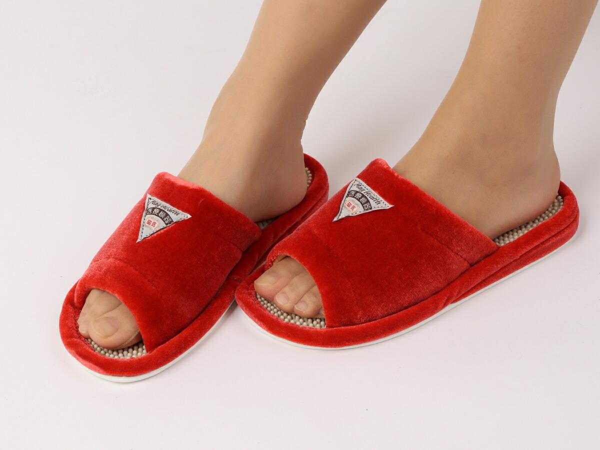 室内履パイル 磁気付 サンダル RED(赤)