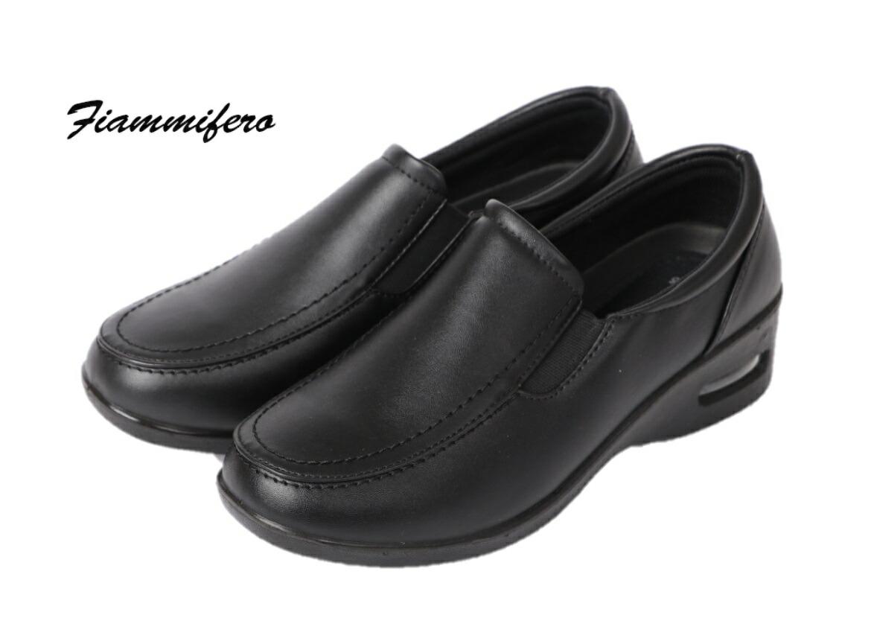 Fiammifero GDW9022 ブラック PF-9022 黒 婦人靴 レディース カジュアルシューズ スリッポン エアークッション