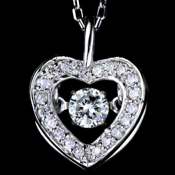 K18WG 0.19ctダイヤモンドスイングネックレスTotal0.13ctダイヤモンドデコレート