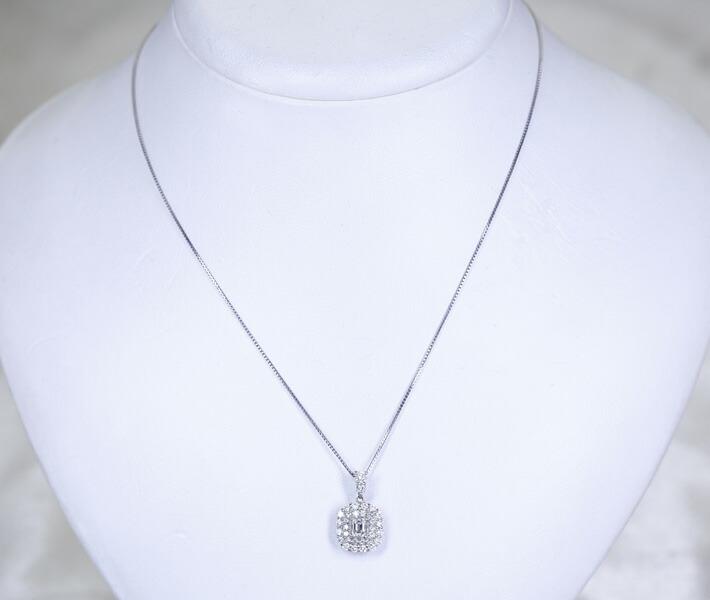 コンクパール 2.88ct ネックレス ダイヤモンド 0.50ct PT900