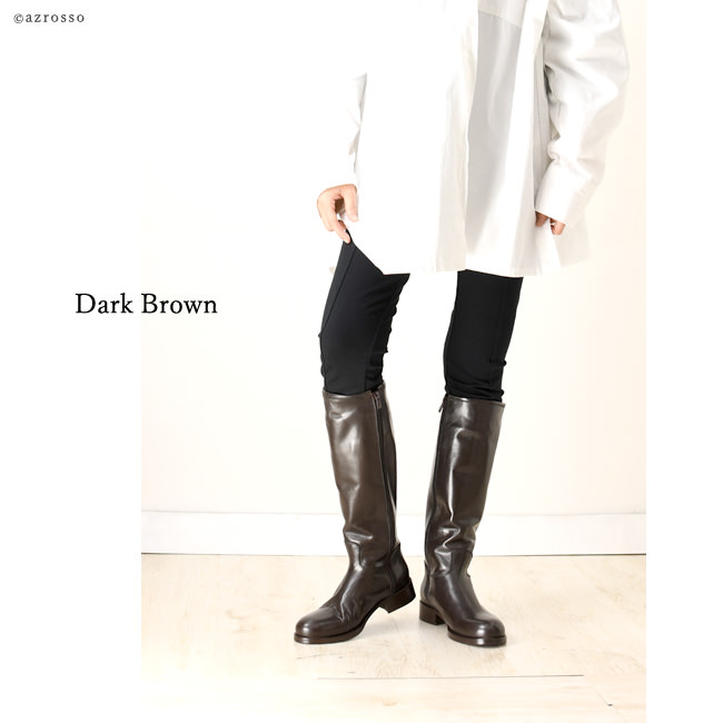 【CORSO ROMA9】コルソローマ9 ジョッキーブーツ 詳細 モデル着用カラー : ダークブラウン