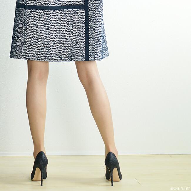 メタリック トゥ グリッターパンプス ジャンヴィト ロッシ Gianvito Rossi ALLIE ハイヒール 10cm レディース 靴 ブランド きれいめ 小さいサイズ 大きいサイズ ブラック 黒 モデル写真