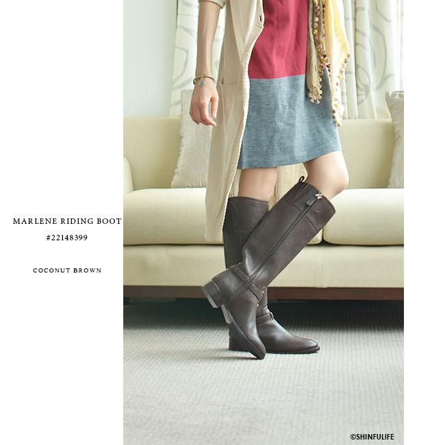 トリーバーチ ブーツ ロング ブーツ マレーネ ライディング ブーツ TORY BURCH 正規品 モデル画像 ココナッツブラウン2