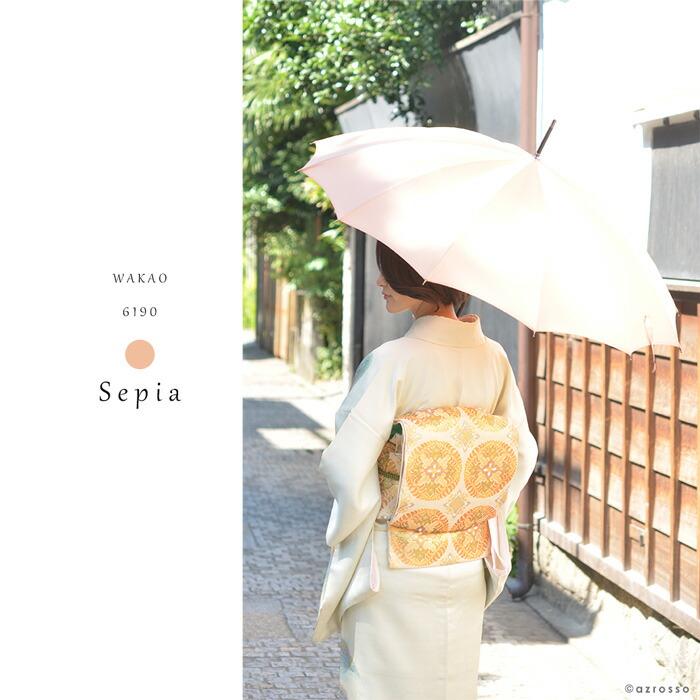 着物にワカオの雨傘は似合う