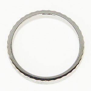 地金リング シンプル 指輪 PT900 プラチナ デザインカットリング 宝石なし指輪
