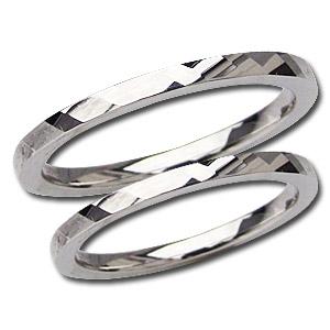 ペアリング シンプル 結婚指輪 PT900 プラチナ デザインカットリング 宝石なし指輪 マリッジリング