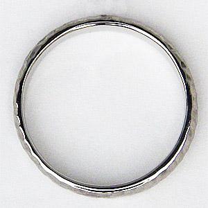 地金リング シンプル 男性用指輪 PT900 プラチナ メンズ デザインカットリング 宝石なし指輪