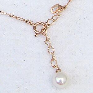 アンクレット ピンクゴールド あこや本真珠 パール 6月誕生石