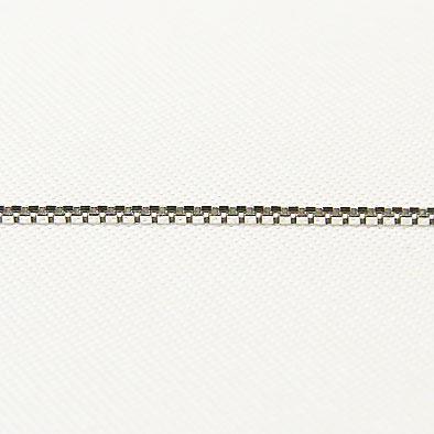 チェーン K18WGホワイトゴールド ライトベネチアン0.7mmチェーン 50cm スライド式
