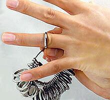 指輪サイズゲージ