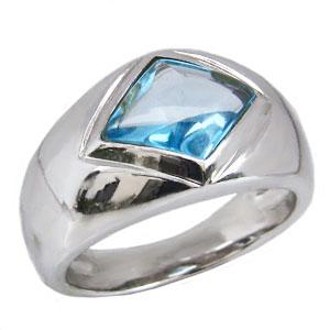 ブルートパーズ リング 指輪 ホワイトゴールド K18WG ブルートパーズ 黄玉 11月誕生石