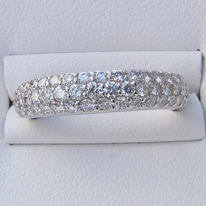 ダイヤモンド:1.00ct:リング:PT900:プラチナ:指輪