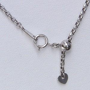 ペンダント K18WG ホワイトゴールド ダイヤモンド イタリーチェーン付 ネックレス パンダジュエリー