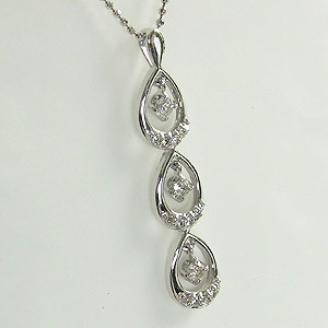 ダイヤモンド ペンダント K18WG ホワイトゴールド ネックレス ジュエリー
