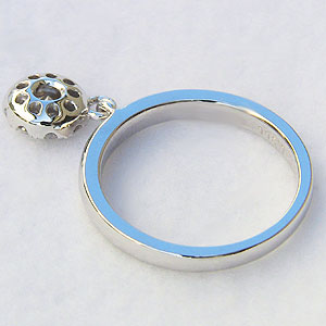 指輪ダイヤモンド リング ホワイトゴールド K18WG 指輪 プレゼント ジュエリー