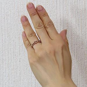 ハートリング ダイヤモンドリング 指輪 ハートモチーフ ピンクゴールド  K18 一粒 ダイヤモンド