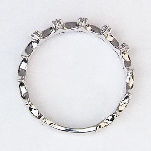 ダイヤモンドリング ティアラリング 王冠 ダイヤモンド 指輪 ダイヤ 0.03ct K18 ホワイトゴールド