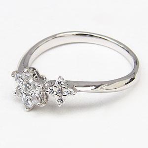 ダイヤモンドリング ダイヤモンド 指輪 ダイヤ 0.27ct ホワイトゴールド K18WG