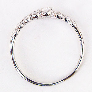 ダイヤモンドリング ダイヤモンド 10石 ダイヤ 0.19ct ホワイトゴールド K18WG 指輪