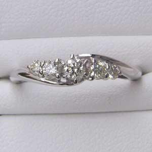 ダイヤモンド リング K18WG ホワイトゴールド 指輪