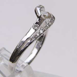 指輪ダイヤモンド リング K18WG ホワイトゴールド 指輪