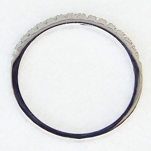 ダイヤモンド リング ハーフエタニティーリング 指輪 0.15ct ホワイトゴールド
