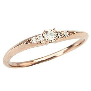 ピンキーリング ダイヤモンドリング 指輪 ピンクゴールド K18PG ダイア