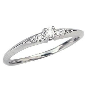 ピンキーリング ダイヤモンドリング 指輪 イエローゴールド K18 ダイア 18金