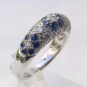 サファイア 9月誕生石 ダイヤモンド サファイヤ リング PT900 プラチナ900 指輪