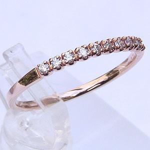 指輪ダイヤモンド リング エタニティ  K18PG ピンクゴールド エタニティ 指輪