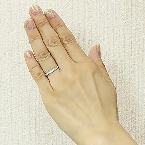 フルエタニティーリング ダイヤモンド リング 指輪 K18WG ホワイトゴールド 4月誕生石 0.48ct